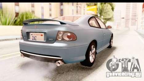 Pontiac GTO 2006 для GTA San Andreas вид слева