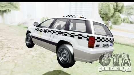 GTA 5 Canis Seminole Taxi Milspec для GTA San Andreas вид сзади слева
