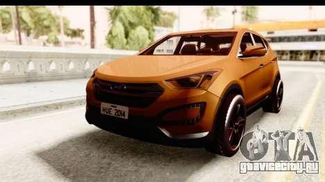 Hyundai Santa Fé 2015 для GTA San Andreas вид сзади слева