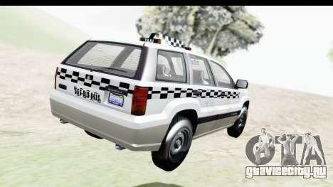 GTA 5 Canis Seminole Taxi Milspec для GTA San Andreas вид слева