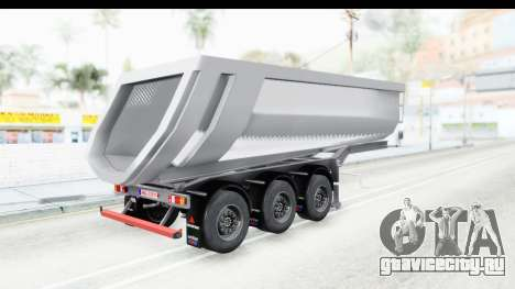 Trailer Volvo Dumper для GTA San Andreas вид слева
