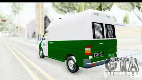 Mercedes-Benz Sprinter Carabineros de Chile для GTA San Andreas вид сзади слева