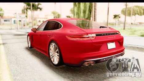 Porsche Panamera 4S 2017 v5 для GTA San Andreas вид сзади слева