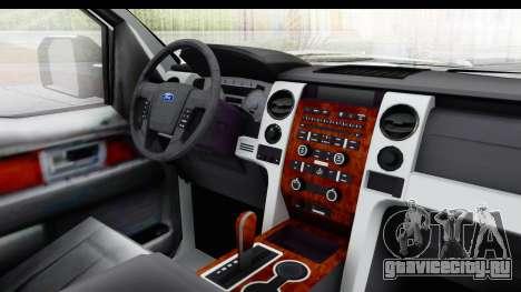 Ford F-150 Police New York для GTA San Andreas вид изнутри