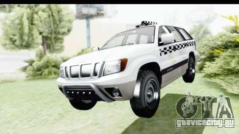 GTA 5 Canis Seminole Taxi Milspec для GTA San Andreas вид справа