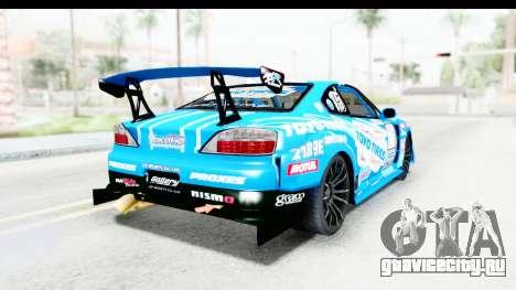 Nissan Silvia S15 D1GP Blue Toyo Tires для GTA San Andreas вид сзади слева