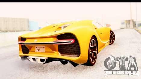 Bugatti Chiron 2017 v2.0 Updated для GTA San Andreas вид сзади