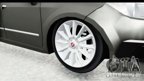 Fiat Linea 2015 v2 Wheels для GTA San Andreas вид сзади