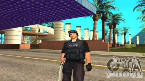 Оригинальный скин SWAT без маски для GTA San Andreas