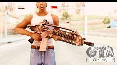 SCAR-LK Hex Camo Tan для GTA San Andreas третий скриншот