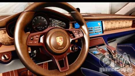 Porsche Panamera 4S 2017 v4 для GTA San Andreas вид изнутри