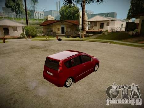 Nissan Note 2008 для GTA San Andreas вид сзади слева