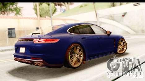 Porsche Panamera 4S 2017 v4 для GTA San Andreas вид слева