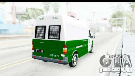 Mercedes-Benz Sprinter Carabineros de Chile для GTA San Andreas вид слева