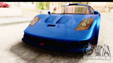 GTA 5 Progen Tyrus IVF для GTA San Andreas вид снизу