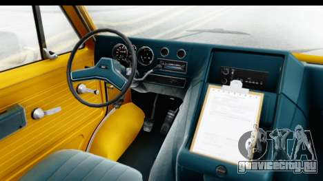 GMC Vandura 1985 HQLM для GTA San Andreas вид изнутри