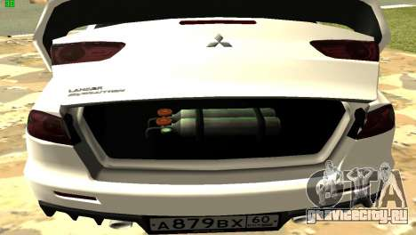 Mitsubishi Lancer X GVR для GTA San Andreas вид сбоку