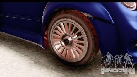 GTA 5 Grotti Brioso для GTA San Andreas вид сзади