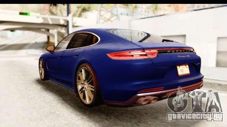Porsche Panamera 4S 2017 v4 для GTA San Andreas вид сзади слева