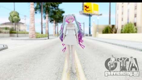 White Dress Miku для GTA San Andreas второй скриншот