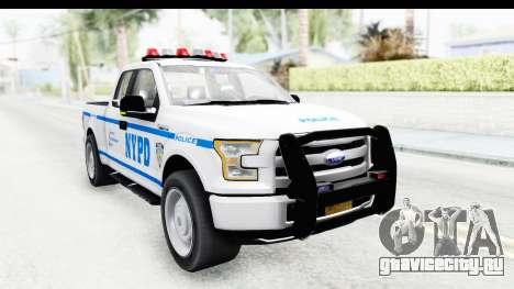 Ford F-150 Police New York для GTA San Andreas вид справа