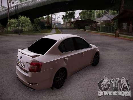 Skoda Octavia A7 R для GTA San Andreas вид справа