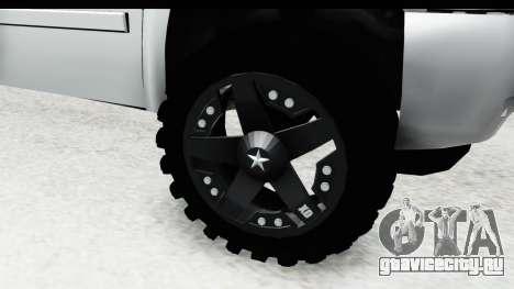Chevrolet Silverado Duramax 2012 для GTA San Andreas вид сзади