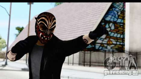 Payday 2 - Bodhi with Mask для GTA San Andreas