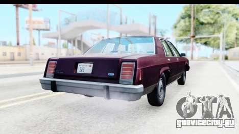 Ford LTD Crown Victoria 1987 для GTA San Andreas вид справа