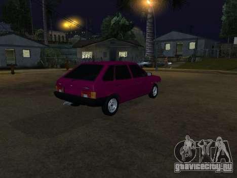 VAZ 2109 для GTA San Andreas вид слева