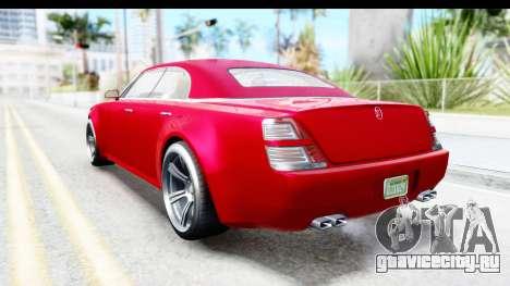 GTA 5 Enus Windsor Drop для GTA San Andreas вид сзади слева