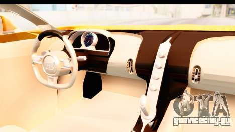Bugatti Chiron 2017 v2.0 Updated для GTA San Andreas вид изнутри