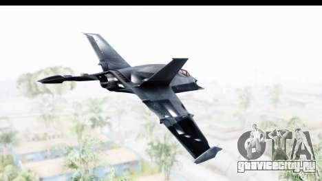 Batman Arkham Origins - Batwing для GTA San Andreas вид справа
