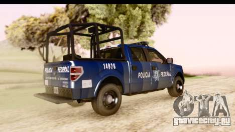Ford F-150 Policia Federal для GTA San Andreas вид сзади слева