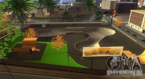 Новые текстуры скейт-парка и госпиталя для GTA San Andreas