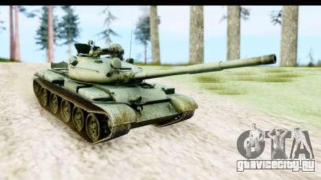 T-62 Wood Camo v1 для GTA San Andreas вид сзади слева
