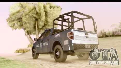Ford F-150 Policia Federal для GTA San Andreas вид слева