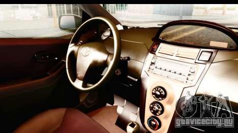Toyota Vios 2008 Taxi Blue Bird для GTA San Andreas вид изнутри
