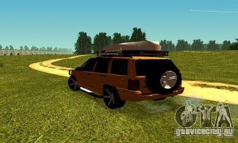 Jeep Grand Cherokee для GTA San Andreas вид справа