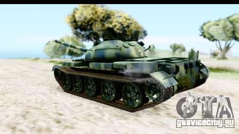 T-62 Wood Camo v3 для GTA San Andreas вид слева