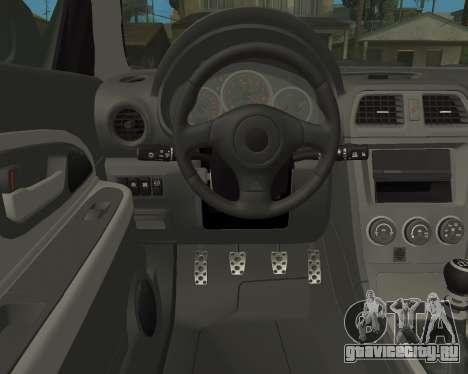 Subaru Impreza Armenian для GTA San Andreas вид сбоку