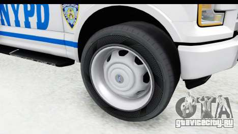 Ford F-150 Police New York для GTA San Andreas вид сзади