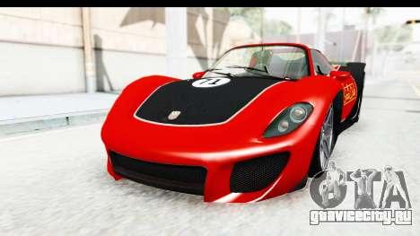 GTA 5 Pfister 811 IVF для GTA San Andreas вид сверху