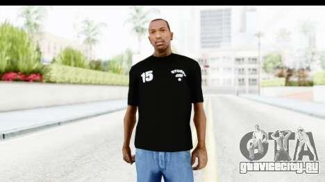 Stussy Black T-Shirt для GTA San Andreas