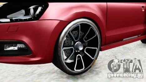 Volkswagen Polo для GTA San Andreas вид сзади