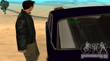 Ваз-2106 для GVR ранняя версия для GTA San Andreas вид изнутри