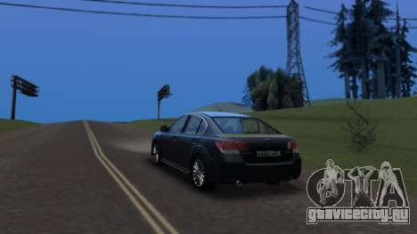 Subaru Legacy 2010 для GTA San Andreas вид слева