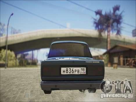 VAZ 2107 Black Jack для GTA San Andreas вид справа