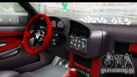 BMW M3 E36 Sloboz Edition для GTA San Andreas вид изнутри