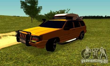 Jeep Grand Cherokee для GTA San Andreas вид изнутри